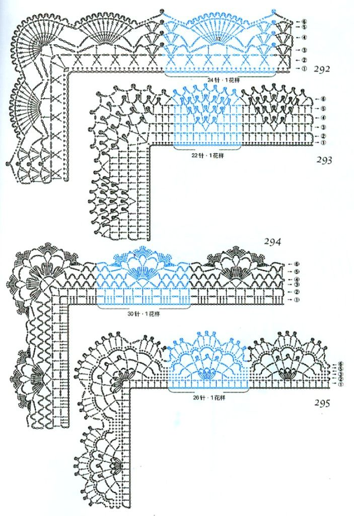Russian Language site but has crochet diagrams for edging and borders