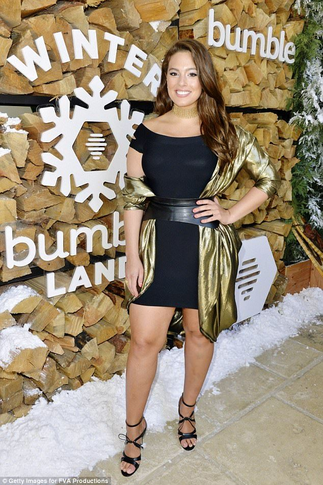 Stunning: Model Ashley Graham was lucky enough to be on the list...