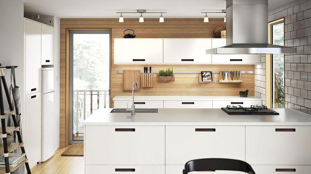 Idée relooking cuisine  Cuisine Ikea Metod Abstrakt : modèles prix catalogue bonnes