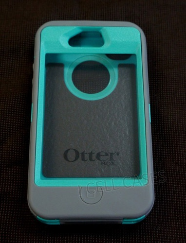 Otterbox Defender Case for iPhone 4 4S Teal/Grey NEW