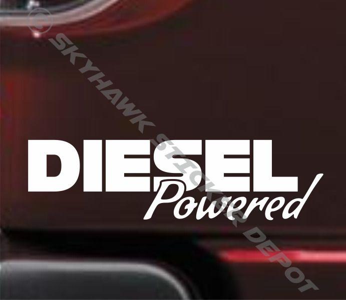 Diesel powered bumper sticker vinyl decal coal roller lifted truck sticker ford