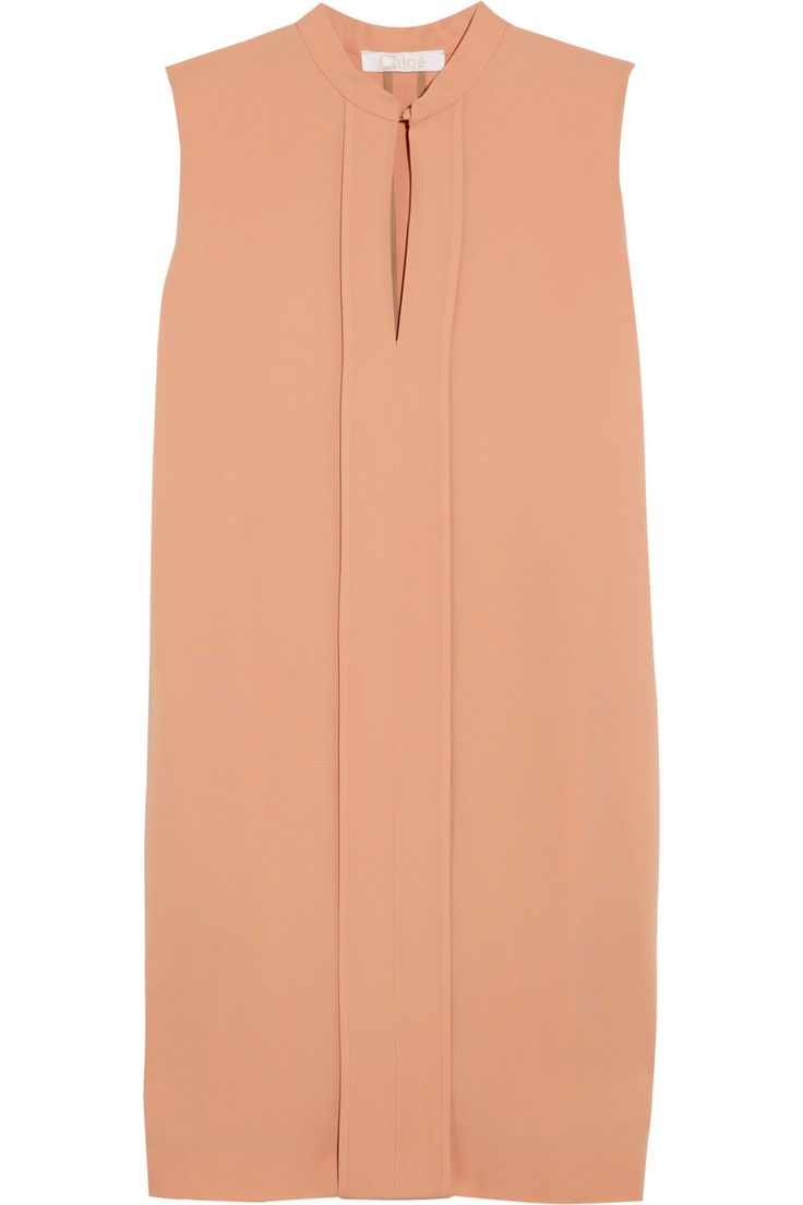 Pleated crepe dress by Chloé 54% acetate, 46% viscose; lining: 74% acetate, 26% silk