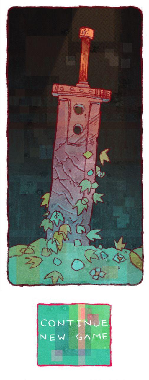 Cloud Strife's Buster Sword by Jake Wyatt