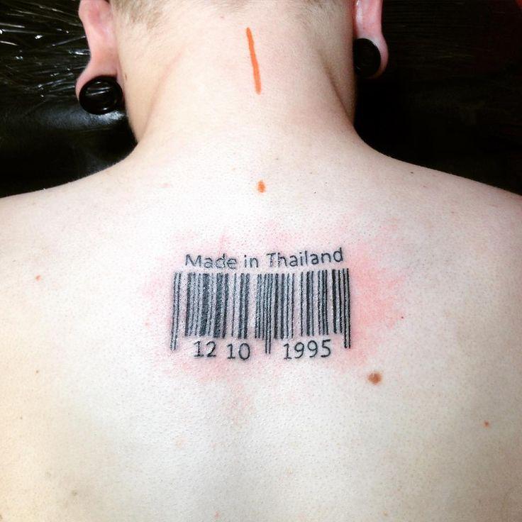 awesome Top 100 barcode tattoo - http://4develop.com.ua/top-100-barcode-tattoo/ Check more at http://4develop.com.ua/top-100-barcode-tattoo/