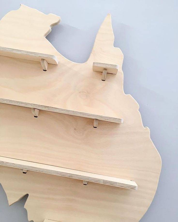 Close up of our Australia Treasure Board in Natural Timber