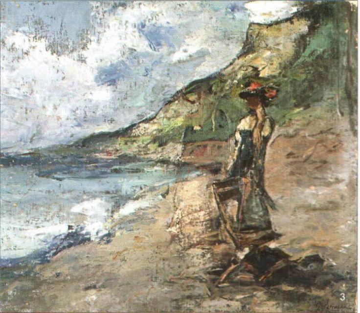 Femeie privind marea