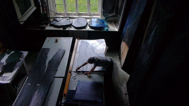 Glossary celebrates the very best in contemporary printmaking and takes the viewer on a journey into the private studios of seven artists working in the UK today through a series of specially commissioned films by Alan Fentiman.