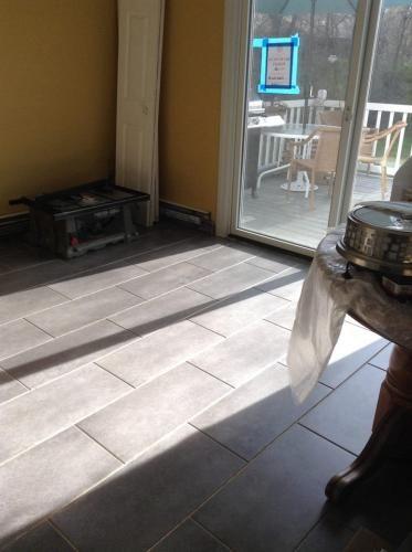 12 In X 24 In Coastal Grey Resilient Vinyl Tile Flooring