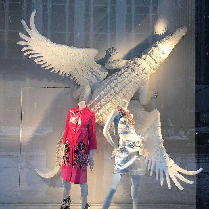 "BERGDORF GOODMAN, New York, ""Left Wing, Right Wing... Crocodile Wing?"", photo by Markus Kingsley, pinned by Ton van der Veer"