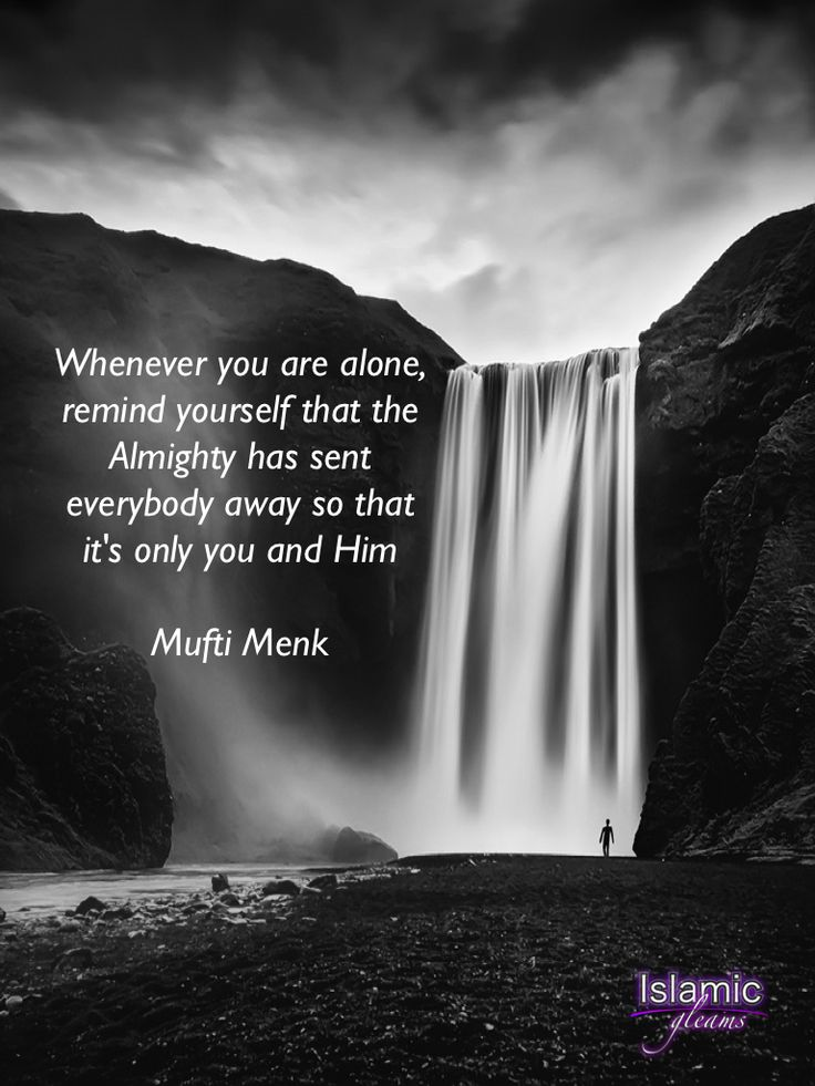 Whenever You Are Alone (Mufti Menk Quote)