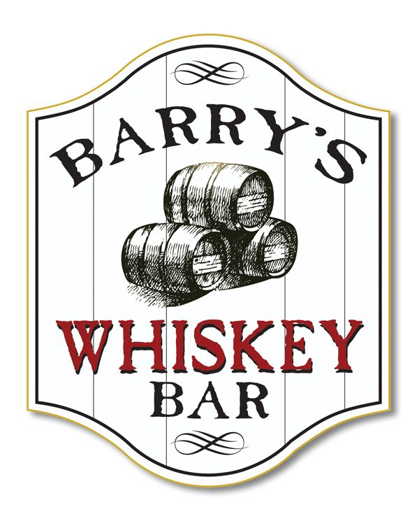 Northwest Gifts Personalized Whiskey Barrel Home Bar Sign 59 95 Http