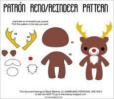.:Reindeer plush pattern:. by SaMtRoNiKa