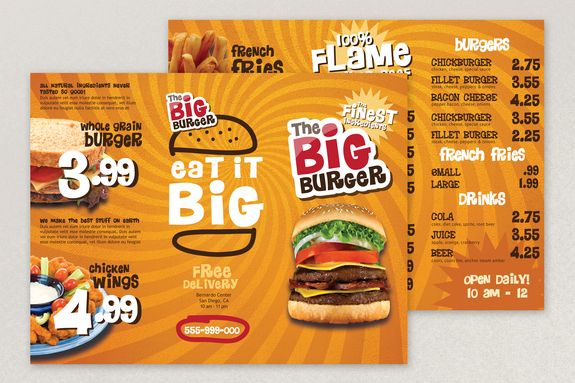 Bright Fast Food Menu Template