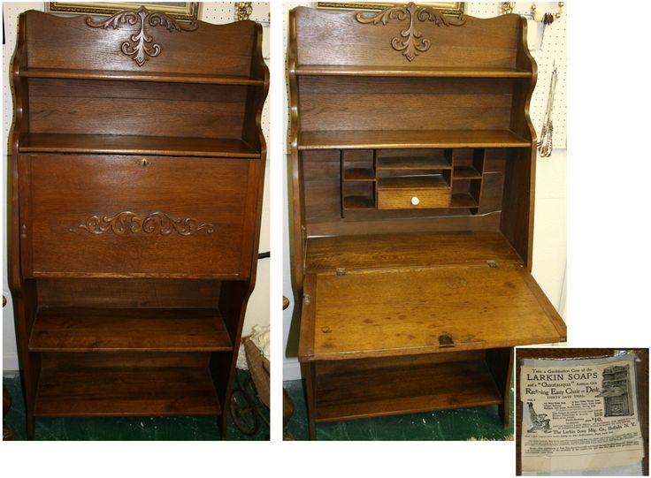 Pictures Of Las Antique Oak Secretary Desks Larkin