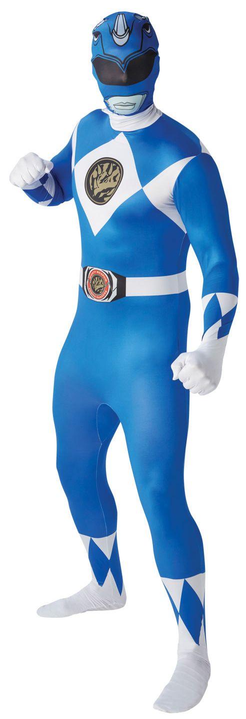 blue Power Ranger Mens 2nd Skin Suit.