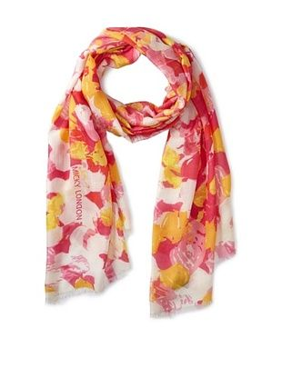 70% OFF Micky London Women's November Rain Scarf, Pink/Yellow Multi