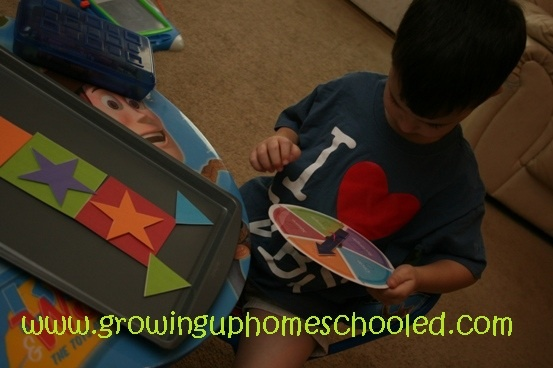 Free printable robot game ~ Teaches shapes and word recognition