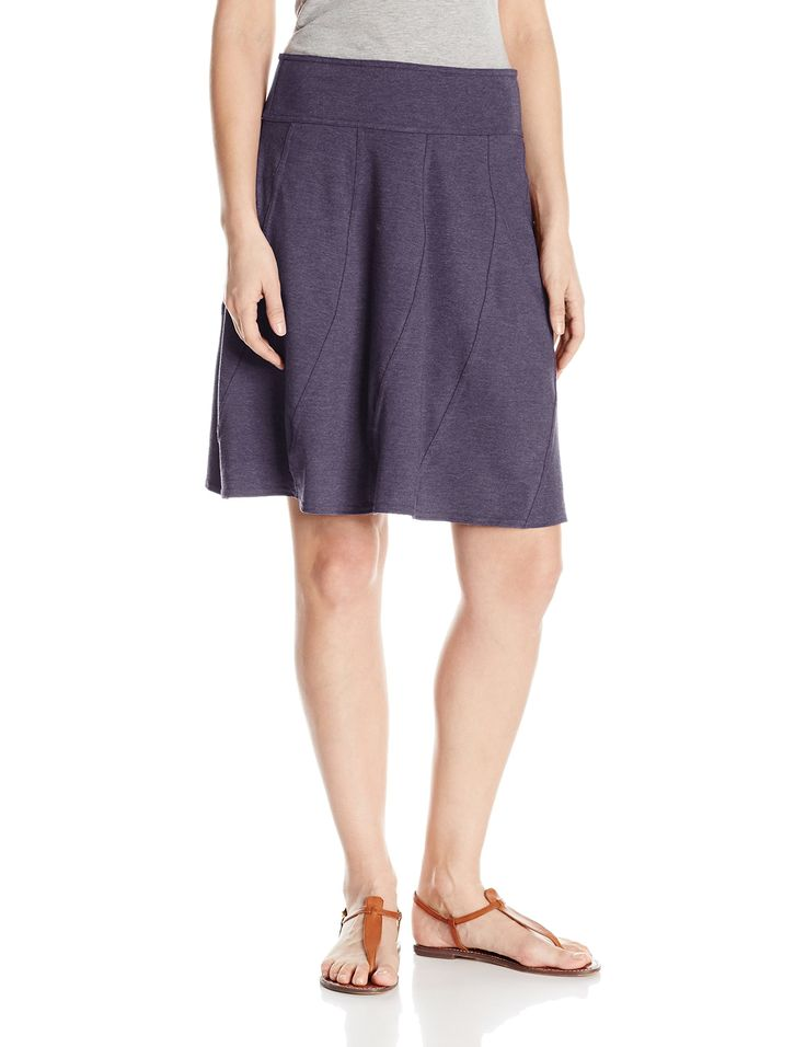 prAna Women's Vendela Skirt: The vendela skirt features an organic cotton  and recycled poly blend in a pull on silhouette with stretch.