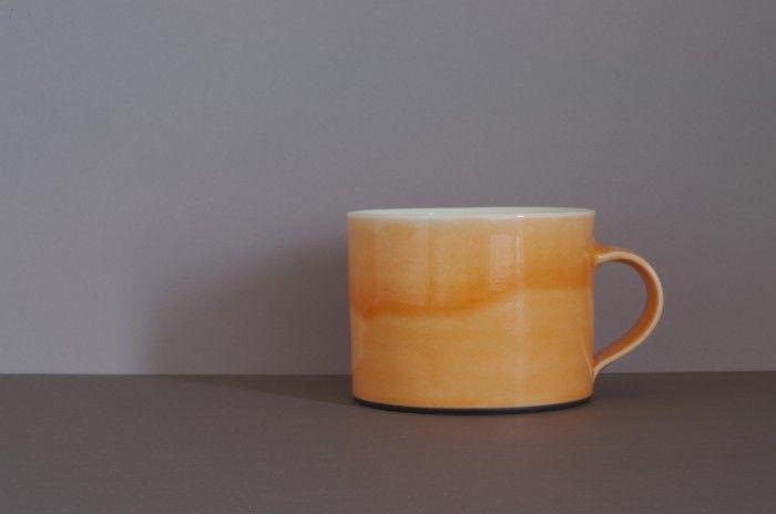 Breakfast mug with orange glaze - james & tilla waters