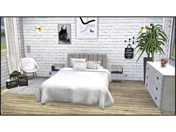 The Sims 4 White Brick Walls By Tatschu White Brick Walls White Brick White Brick Wallpaper