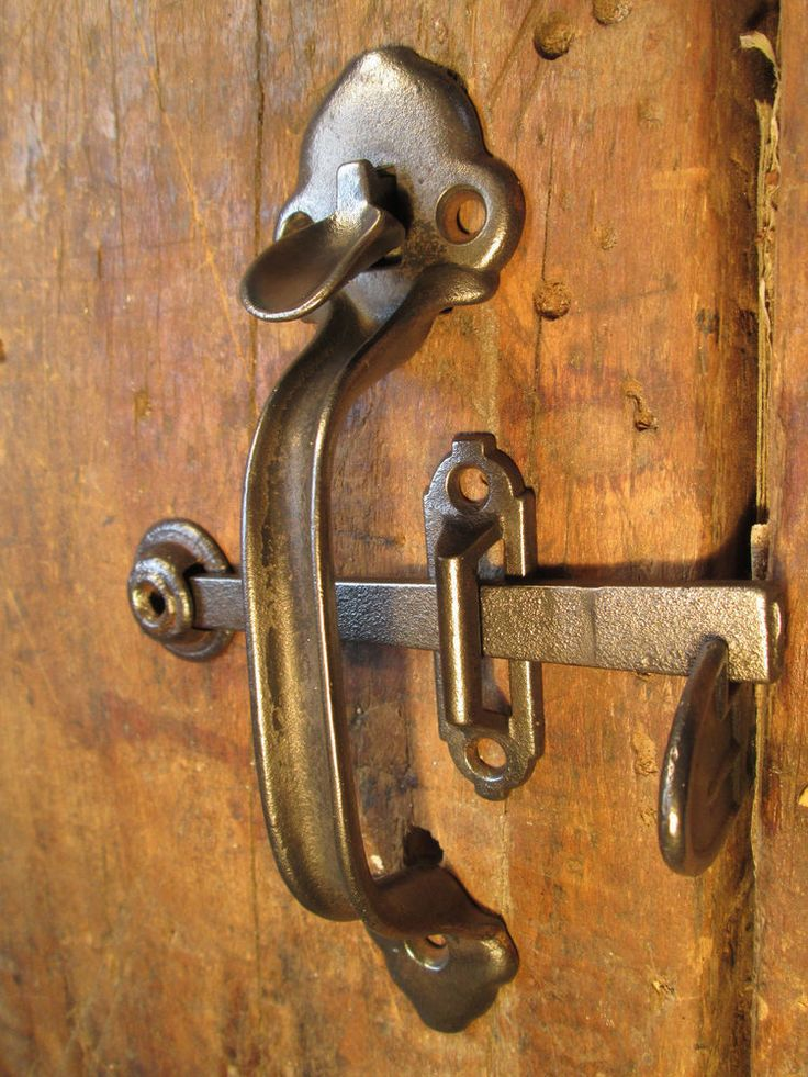ANTIQUE BARN DOOR HANDLE THUMB LATCH SET in Antiques, Architectural & Garden, Hardware | eBay