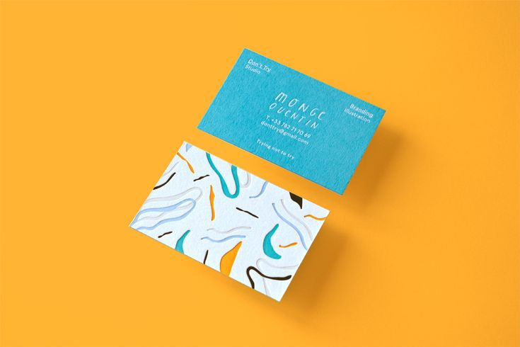Don't Try Studio - Business Cards on Behance