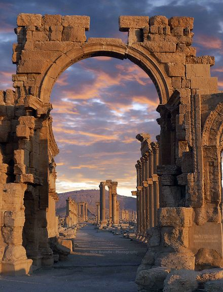 Arch of Triumph [now destroyed] Palmyra, Syria