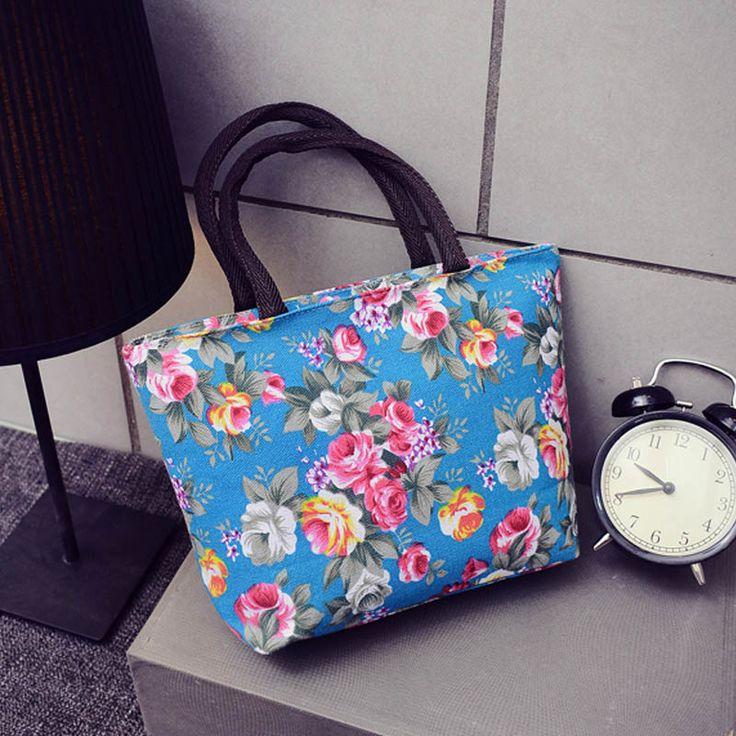 Hot Koop Fashion Bloemen Ontwerp Vrouwelijke Mini Handtassen Kwaliteit Canvas Afdrukken Kleine Casual Draagtas vrouwen Boodschappentas Groothandel in    welkom in onze winkel, wij proberen ons best om u.   iets we voor u, laat het me weten.  kunnen we u andere Snellere  van Top- handvat tassen op AliExpress.com | Alibaba Groep