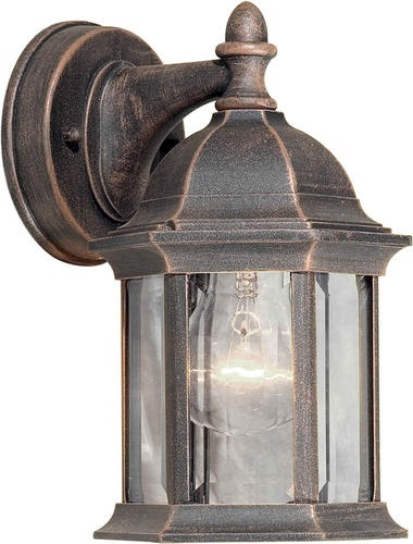 Photon 1 Light Painted Rust Finish Incandescent Outdoor Wall Lantern With Clear Beveled Glass Panels At Menards
