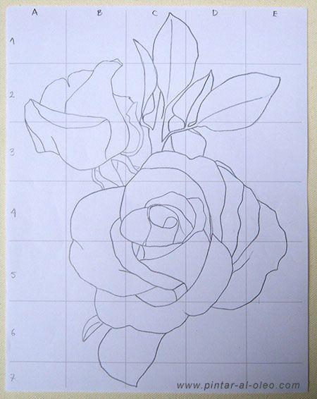 Cómo dibujar una rosa método de la cuadrícula