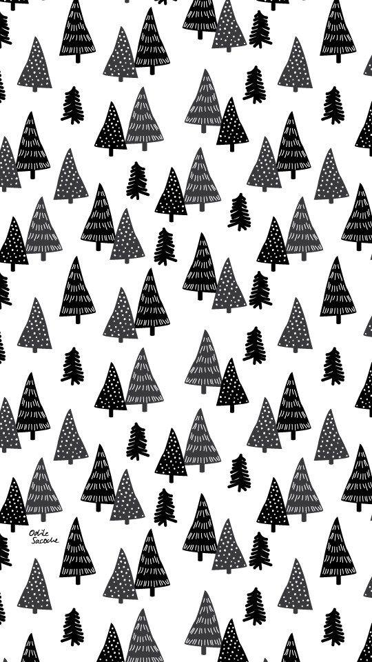 """Odile Sacoche - [Freebies] Des fonds d'écran """"Fox & Tree"""" pour passer l'hiver - Odile Sacoche"""