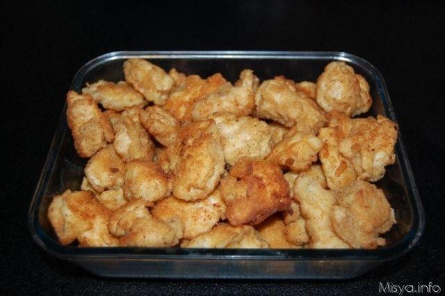 Pepite di pollo in pastella. Scopri la ricetta: http://www.misya.info/2007/06/06/pepite-di-pollo-in-pastella.htm