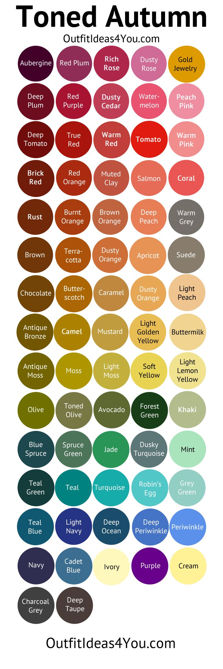 "I think I'm actually a ""Toned Autumn"" --(Soft Autumn Deep), because I don't have dark brown hair (it's golden brown with red undertones) or medium skin (I'm very pale) or dark eyes (mine are golden, reddish, olive brown)"