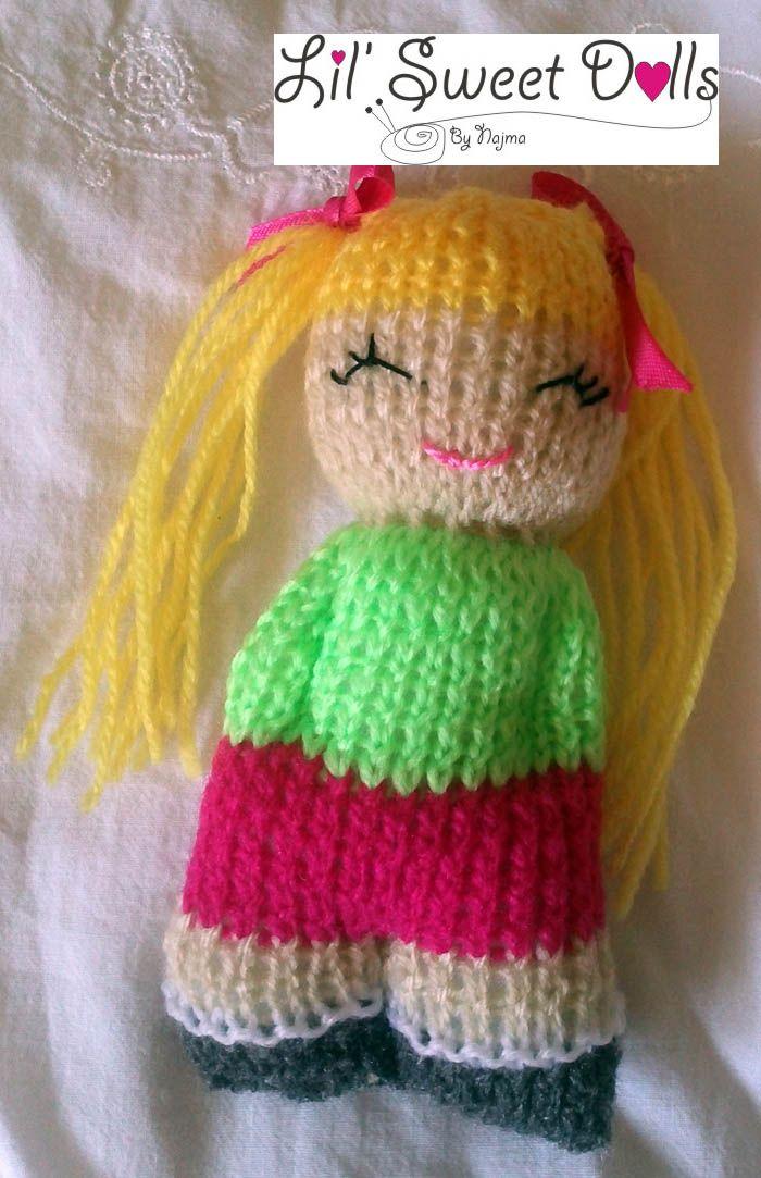 comfort doll knitted doll muñeca tejida  najma23