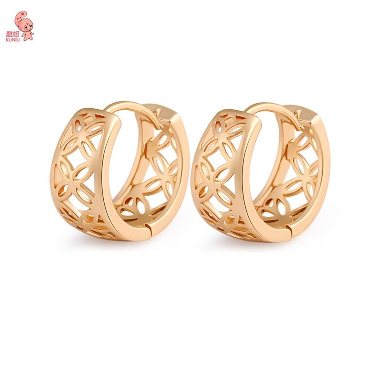 Summer Style Jewelry Hollowed-out Gold Plated  Luxury Hoop Earrings For Women Wedding Earrings Jewelry Free Shipping