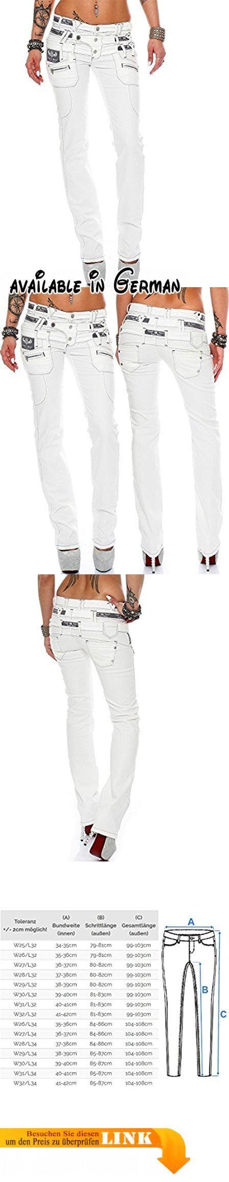 Cipo & Baxx Sexy Damen Jeans Hose Hüftjeans Skinny Regular Fit Stretch Röhre Design. BITTE ACHTEN SIE UNBEDINGT AUF DIE GRÖßENTABELLE (SIEHE BILD). Slim Fit (körperbetonter Schnitt). Trendige Jeans mit hoher Qualität. Weiß. Mit Knöpfen und einem Reißverschluss #Apparel #PANTS