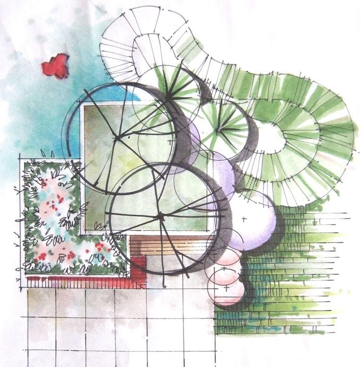107 best Garden Design Sketches images on Pinterest Landscape