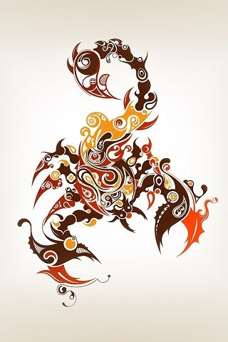Tribal Scorpion Tattoo iphone Wallpaper Download
