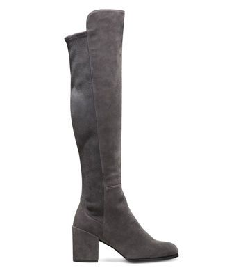 Got me a pair of these Stuart Weitzman knee high boots - size 37, gray