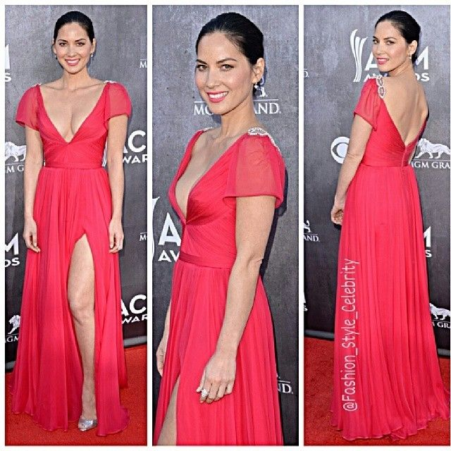 #Olivia Munn Shows Us Lots of Leg at ACM Awards 2014Olivia Munn rocks a #highslit in her #dress to display her #longleg on #theredcarpet at the #2014 Academy Of Country Music Awards.#Olivia is #wearing a #ReemAcra #dress, #ChristianLouboutin #shoes, #NeilLane #jewels and #LKBennett #bag.#fashion #style #celebrity #red #pink #gown #hot #elegant #stylish #ootd #outfit #makeup #socialite #... - Celebrity Fashion