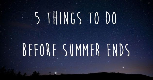 5 ways to wring every last drop out of a British summer
