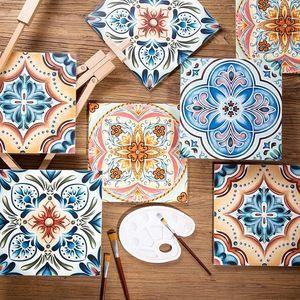 300*300mm non-slip flower ceramic bathroom floor tiles