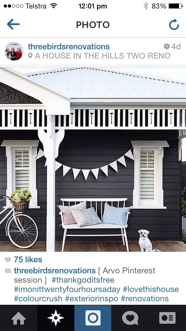 Charcoal white weatherboard