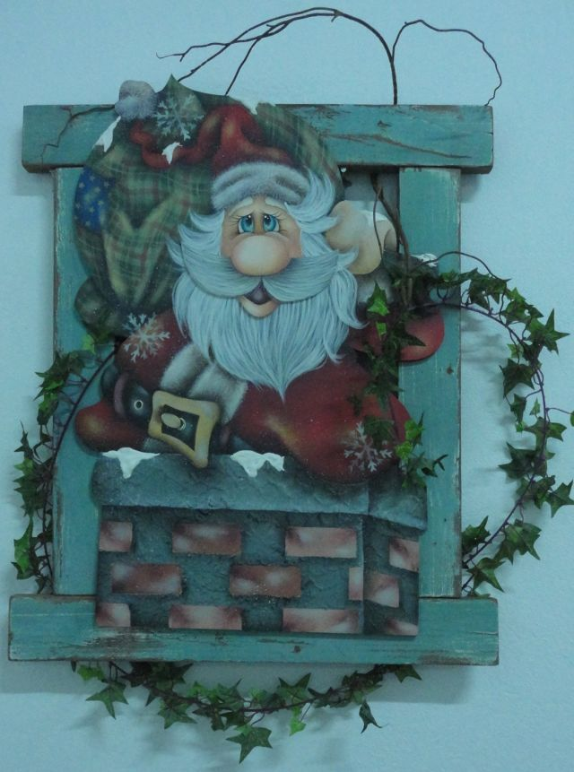 Enfeite de Porta Noel na chaminé Ref: 2719