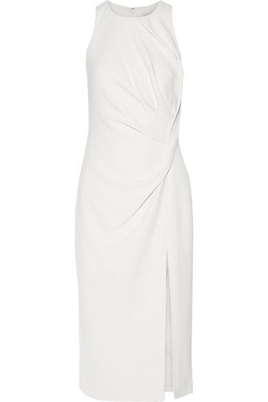 Cushnie et Ochs - Gathered Stretch-cady Midi Dress - Off-white