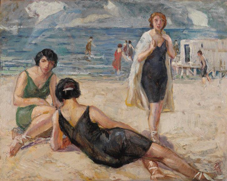 İbrahim Çallı Plajda Kadınlar tablosu