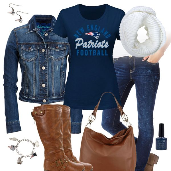 New England Patriots Jean Jacket Outfit