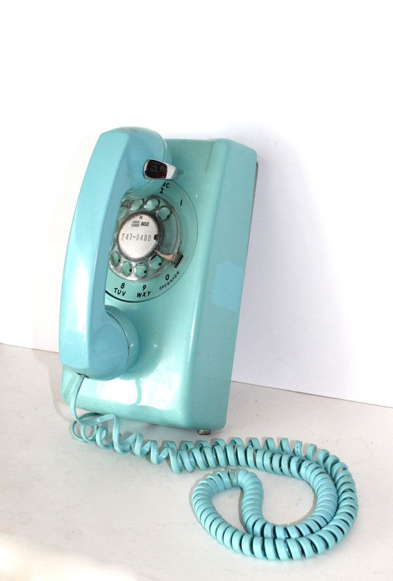 Vintage Aqua Blue Rotary Dial Bell System Wall by SugarLMtnAntqs, The scary thing is that this is called vintage and I grew up with them in the house. That hurts.