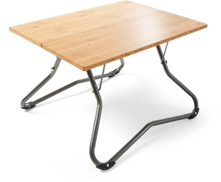 The REI Hang Time Low Table Has A Smooth Durable Bamboo Surface Thats Great For Prepping Food After Dinner Clear It Off To Make Room