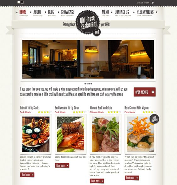 Best of the restaurant wordpress themes images
